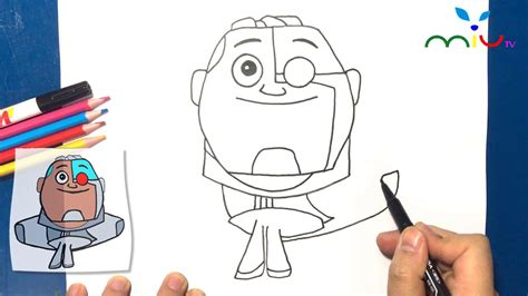 How To Draw Cyborg From Teen Titans Go Miukidstv