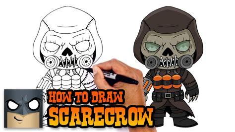 draw scarecrow batman arkham knight youtube
