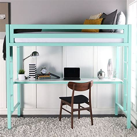 amazon loft bed with desk loft bed desk amazon com