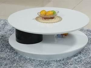 Table Basse Blanche Ronde : table basse ronde style et l gance dans salon 30 id es ~ Teatrodelosmanantiales.com Idées de Décoration