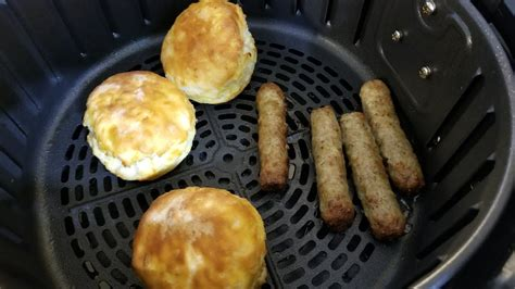 fryer sausage air biscuits frozen breakfast links airfryer recipes power nuwave