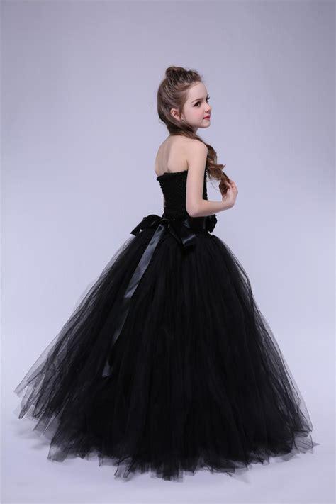 tulle flower girl dress black baby kids tutu dress