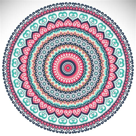 colorful mandala on a white background vector free