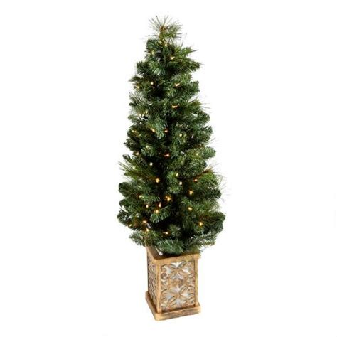 4 pre lit artificial porch christmas tree with stand