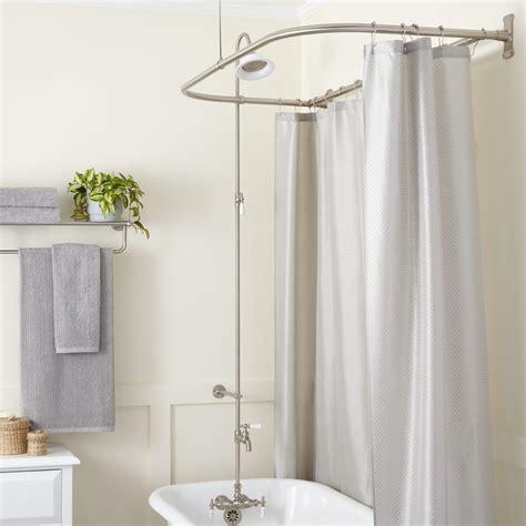 Shower The - leg tub shower enclosure set d style shower ring bathroom