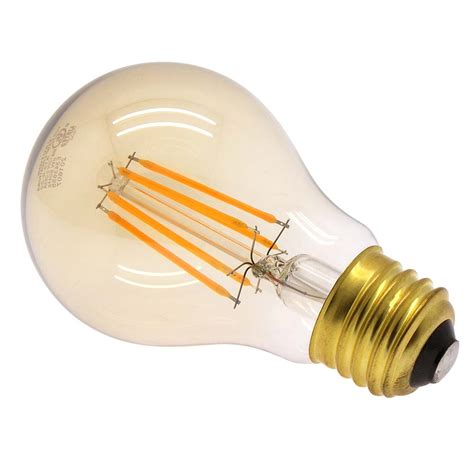 6w led filament bulb warm color 2200k e26 base