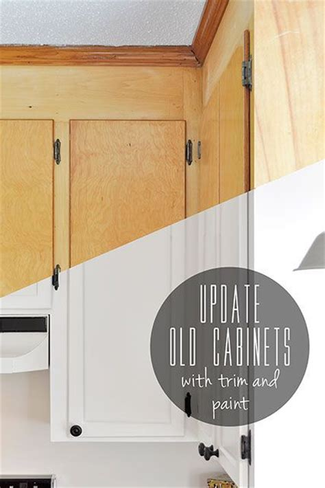 adding trim to flat cabinet doors update old flat front cabinets by adding trim to the doors