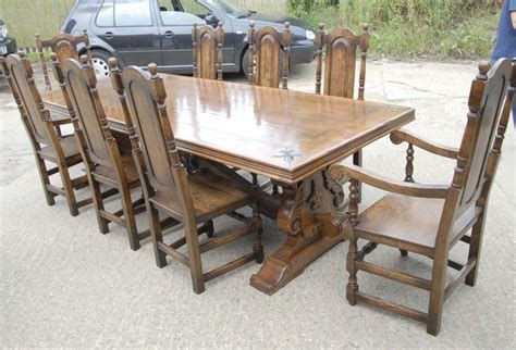 refectory table william chairs dining set