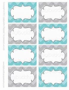ava modern chevron candy buffet food mailing labels cards With buffet food labels templates