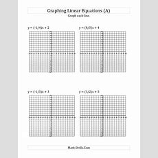 The Graph A Linear Equation In Slopeintercept Form (a) Math Worksheet From The Algebra