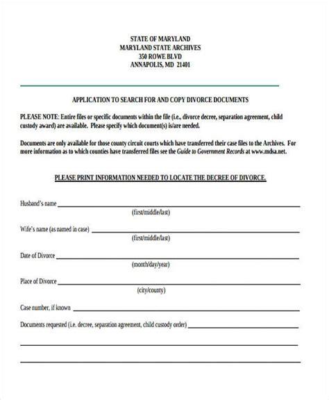 Maryland Divorce Form Narsuogradysmovingco