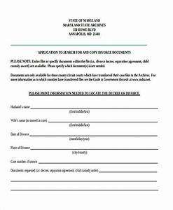 maryland divorce forms With seperation agreement template