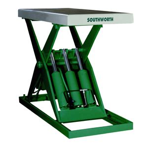 industrial table ls southworth products ls series hydraulic lift tables