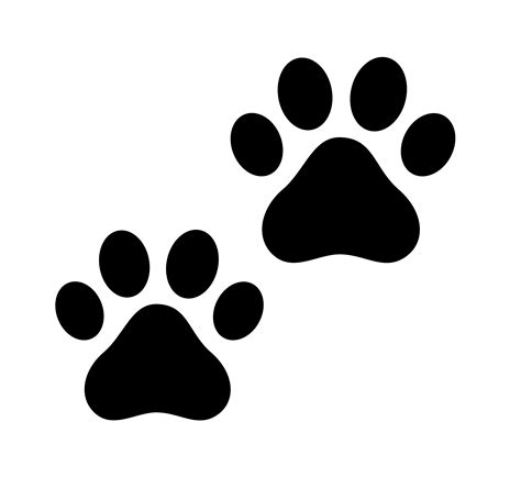 dog paw print outline    clipartmag