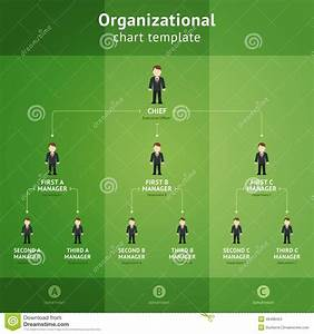 Organizational Chart Template Stock Vector