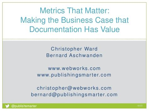 metrics  matter making  business case