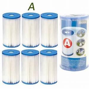 Pompe De Piscine Intex : 6 cartouches de filtration intex pour filtre piscine ~ Dailycaller-alerts.com Idées de Décoration
