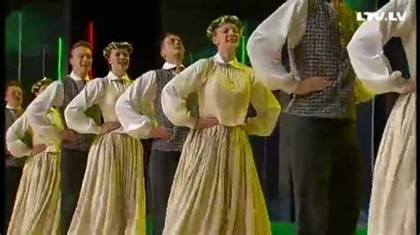 Latvijas tautu dejas in dnb. - YouTube