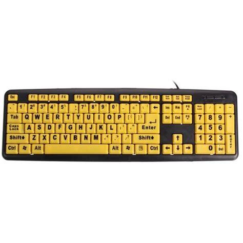 teclas amarillas gran impresion usb teclado de computadora