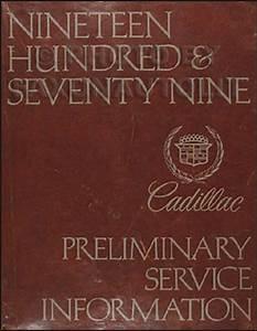 1979 Cadillac Repair Shop Manual Original