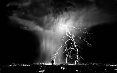 Lightning Wallpapers Storm Backgrounds Sky Rayo Ciudad