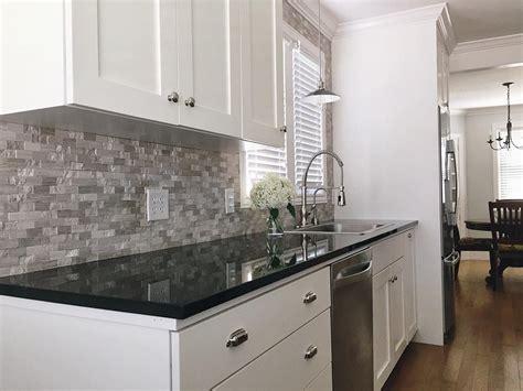 Black Backsplash Kitchen by Builddirect Granite Countertops Black Galaxy Kitchen