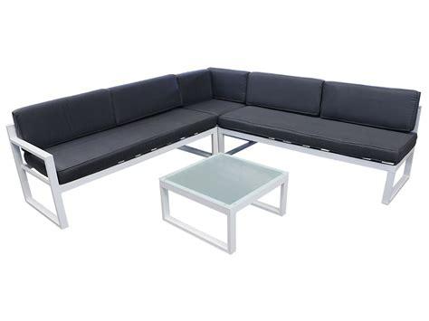 canapé de jardin aluminium salon de jardin en aluminium st tropez quot quot gris