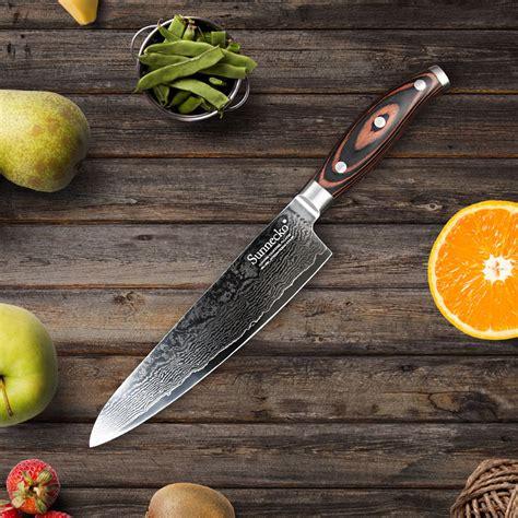 chef de cuisine description sunnecko 8 quot chef couteau rasoir japonais vg10 lame en