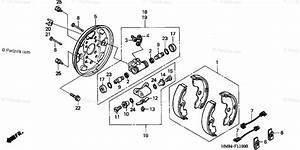 Honda Atv 2001 Oem Parts Diagram For Front Brake    Panel