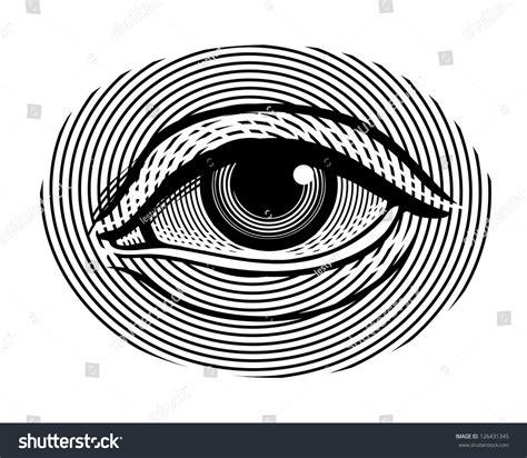 Vector Illustration Human Eye Vintage Engraved Stock Vector 126431345 Shutterstock