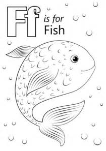 letter    fish coloring page  printable
