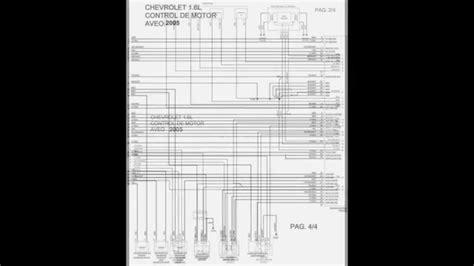 diagramas electricos chevrolet aveo 1 6 2005 youtube