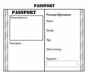 passport template 8 download free documents in pdf word With passport photo print template