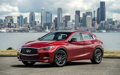 Download Wallpapers Infiniti Qx30s, 2017, Red Infinity