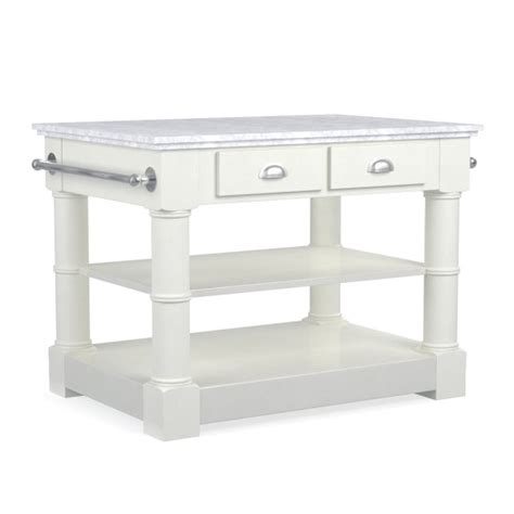 barrelson single kitchen island with marble top williams