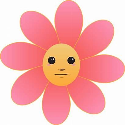 Clip Face Flower Clipart Vector Cliparts Svg