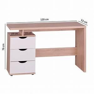 Scrivania per computer NATALIE, in legno con cassetti, cm 120x53x76 Scrivania per PC modello