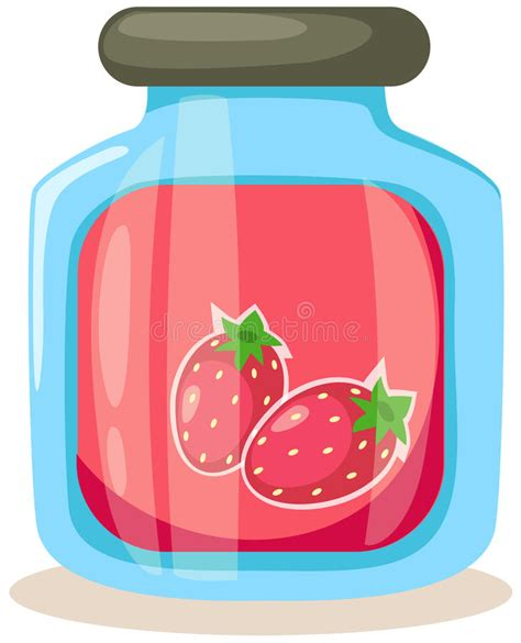 Strawberry Jam Jar Stock Photos  Image 14741763