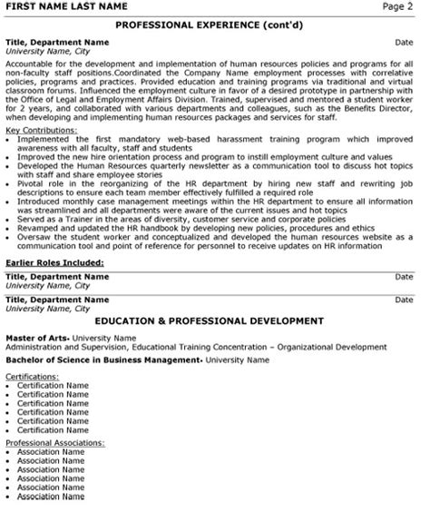Human Resources Supervisor Resume Sle by Pdf Professional Human Resources Director Resume