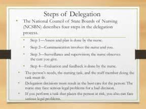 Nursing Delegation Process