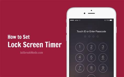 auto screen lock time setting  iphone