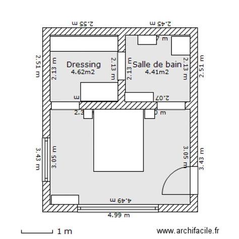 plan chambre parentale avec salle de bain et dressing 10