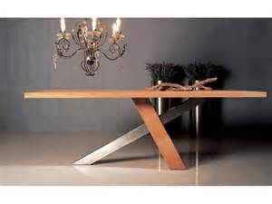 Le De Table Design by Table De Repas Design Ch 234 Ne Massif Brut Huil 233 Inox