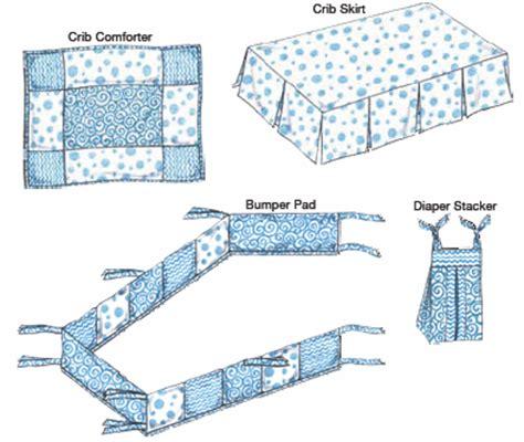 crib sheet pattern kwik sew 3685 crib comforter skirt fitted sheet bumper