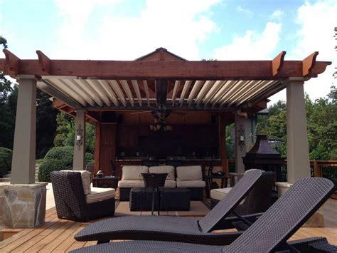 covered outdoor bar area pergolas darin chamberlin