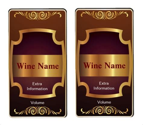 wine label template 35 wine label templates free premium templates
