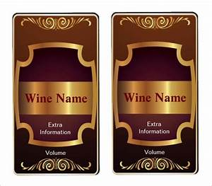 35 wine label templates free premium templates With how to print wine labels