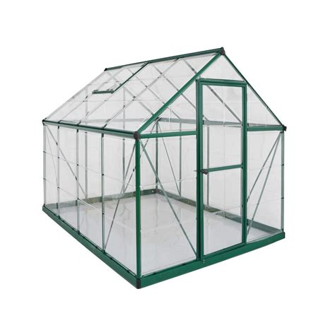 lowes outdoor kitchen palram 6 ft x 8 ft polycarbonate greenhouse in