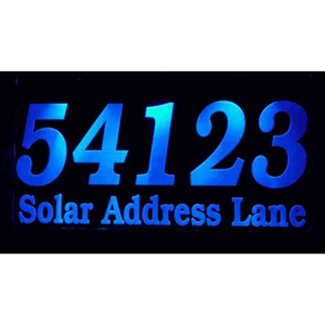 solar lighted address plaque