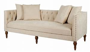Chenille fabric wooden chesterfield sofa beige for Beige chenille sectional sofa